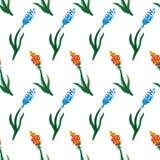 Inconsútil de las flores de la acuarela Imagen de archivo libre de regalías