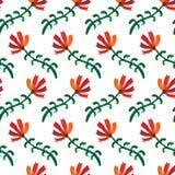 Inconsútil de las flores de la acuarela Fotografía de archivo libre de regalías