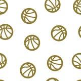 Inconsútil del modelo del baloncesto aislado Imágenes de archivo libres de regalías