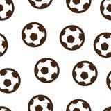 Inconsútil del modelo de la bola del fútbol aislado Foto de archivo libre de regalías