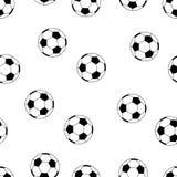 Inconsútil del modelo del fútbol aislado Fotografía de archivo