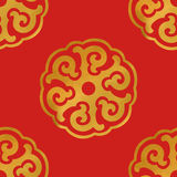 Inconsútil del ornamento asiático redondo Foto de archivo libre de regalías