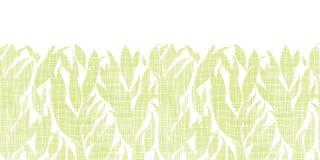 Inconsútil horizontal de la textura de la materia textil de las hojas del verde Imagenes de archivo