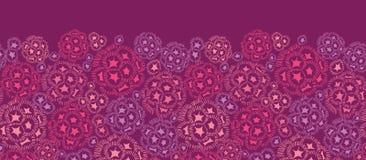 Inconsútil horizontal de las flores subacuáticas abstractas Fotos de archivo libres de regalías