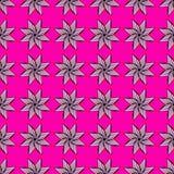 inconsútil Las estrellas del remolino en fondo rosado Vector libre illustration