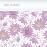 Inconsútil rasgada horizontal floral de la sombra púrpura Imagen de archivo