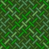 Inconsútil sin fin hizo punto el ornamento Irlandés-sajón de lana basado en nudo céltico stock de ilustración