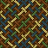 Inconsútil sin fin hizo punto el ornamento Irlandés-sajón de lana basado en nudo céltico ilustración del vector