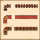 Inconsútil tejar las pequeñas fronteras con la esquina Imagen de archivo