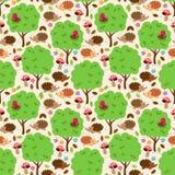 Inconsútil, Tileable Forest Animals Vector Background Imágenes de archivo libres de regalías