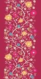 Inconsútil vertical floreciente Painterly del árbol Imagenes de archivo