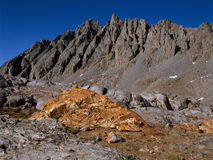 The Inconsolable Range from Bishop Pass, John Muir Wilderness, Sierra Nevada Royalty Free Stock Image