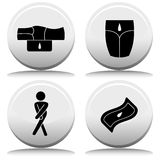Incontinence Button Set Royalty Free Stock Image