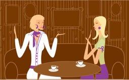 Incontrandosi in caffè Fotografia Stock