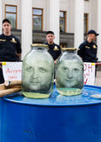 Incontrandosi contro la corruzione a Kiev Fotografia Stock Libera da Diritti