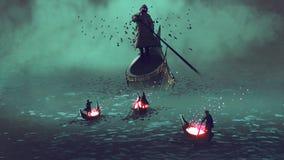 Incontri il reaper torvo illustrazione vettoriale