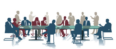 Incontro di affari o riunione Immagine Stock Libera da Diritti