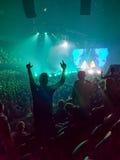 Incoraggiando al concerto Fotografia Stock