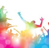 Incoraggiare astratto della folla di festival di musica di estate royalty illustrazione gratis