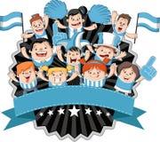 Incoraggiare dei tifosi e dei sostenitori del fumetto royalty illustrazione gratis