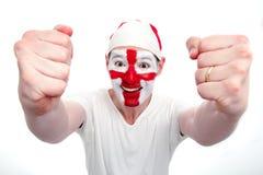 Incoraggiare del ventilatore dell'Inghilterra Immagine Stock Libera da Diritti