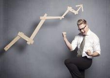Incoraggiare del vincitore di affari. immagini stock