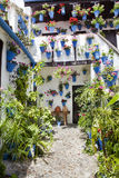 InCordoba típico del patio, España, Imagen de archivo libre de regalías