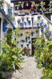 InCordoba typique de patio, Espagne, Image libre de droits