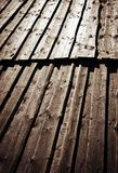 Incorniciatura di legno con l'ombra immagine stock libera da diritti
