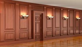 Incorniciatura di legno nell'interno Fotografia Stock Libera da Diritti