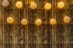 Incorniciatura e luci di legno fotografia stock