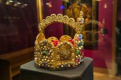 Incoroni nel palazzo di Hofburg del museo a Vienna Austria Fotografia Stock Libera da Diritti