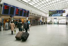 Incorporar del aeropuerto de Montreal Trudeau Montreal foto de archivo libre de regalías