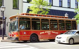 Historic Alexandria, Virginia trolley ride Royalty Free Stock Image