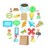 Incorporation icons set, cartoon style. Incorporation icons set. Cartoon set of 25 incorporation vector icons for web isolated on white background Stock Image