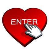 Incorpore el corazón rojo Fotografía de archivo libre de regalías