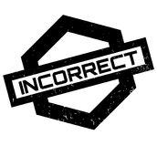 Incorrect rubber stamp Royalty Free Stock Photos