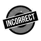 Incorrect rubber stamp Stock Images