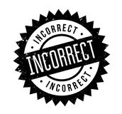 Incorrect rubber stamp Royalty Free Stock Photography