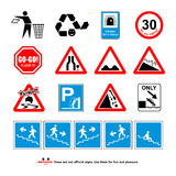 Incorrect signs Stock Photography