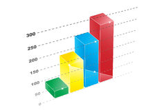 Increase. Illustration 3d in four colors Stock Image
