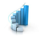 Increase bar graph. Increasing bar graph in gradient color Stock Photography