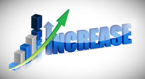 Increase business chart and word Royalty Free Stock Photos