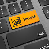 Increase business key on the computer keyboard Stock Photos
