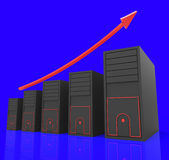 Increase Computer Storage Shows Improvement Advance And Upward Stock Photo