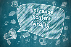 Increase Content Virality - Business Concept. Royalty Free Stock Images