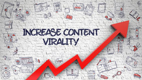 Increase Content Virality Drawn on Brick Wall. Royalty Free Stock Photography
