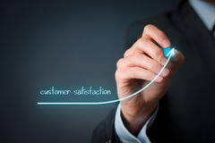 Increase customer satisfaction Stock Image