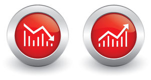 Increase decrease Icons Royalty Free Stock Photo