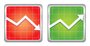 Increase decrease Icons Stock Image